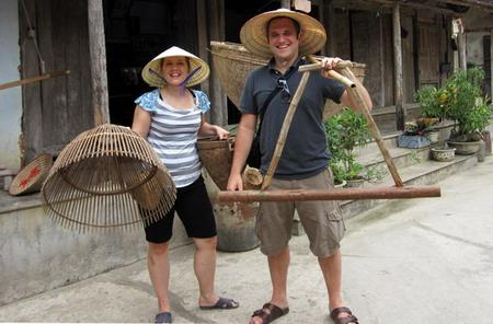 German couple enjoy Vietnam