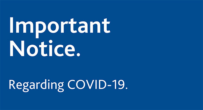 covid-19: important notice